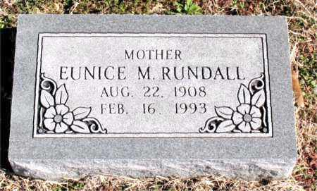 RUNDALL, EUNICE M - Carroll County, Arkansas | EUNICE M RUNDALL - Arkansas Gravestone Photos