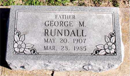 RUNDALL, GEORGE M - Carroll County, Arkansas | GEORGE M RUNDALL - Arkansas Gravestone Photos