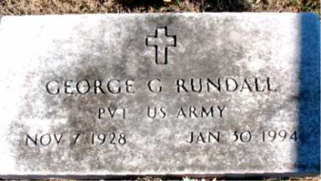 RUNDALL  (VETERAN), GEORGE G. - Carroll County, Arkansas | GEORGE G. RUNDALL  (VETERAN) - Arkansas Gravestone Photos