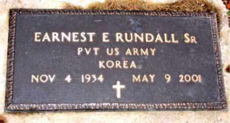 RUNDALL SR. (VETERAN KOR), EARNEST E. - Carroll County, Arkansas | EARNEST E. RUNDALL SR. (VETERAN KOR) - Arkansas Gravestone Photos