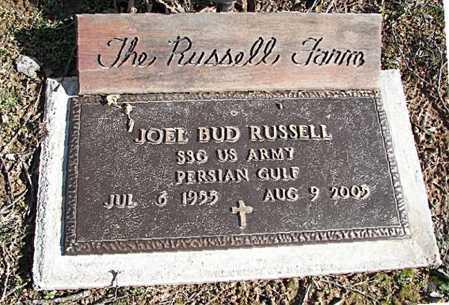 RUSSELL  (VETERAN PGW), JOEL BUD - Carroll County, Arkansas | JOEL BUD RUSSELL  (VETERAN PGW) - Arkansas Gravestone Photos