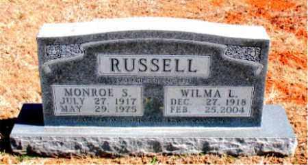 RUSSELL, MONROE S. - Carroll County, Arkansas | MONROE S. RUSSELL - Arkansas Gravestone Photos
