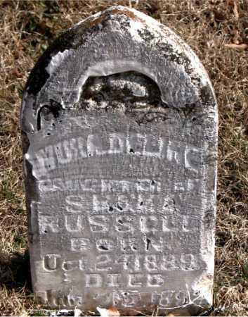 RUSSELL, NORA DELINE - Carroll County, Arkansas | NORA DELINE RUSSELL - Arkansas Gravestone Photos