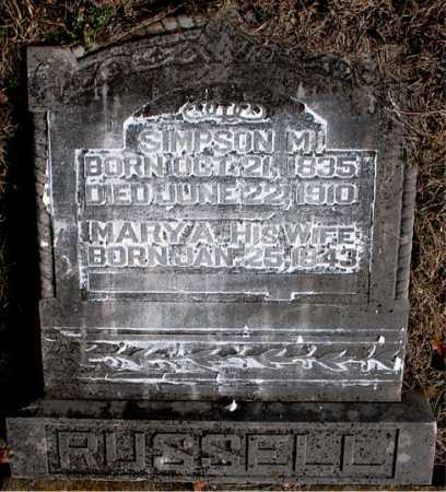 RUSSELL, MARY A. - Carroll County, Arkansas | MARY A. RUSSELL - Arkansas Gravestone Photos
