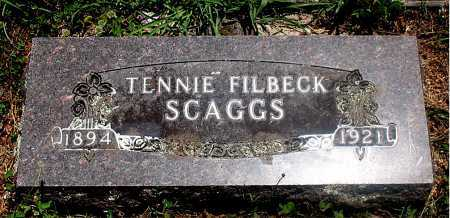 FILBECK SCAGGS, TENNIE - Carroll County, Arkansas | TENNIE FILBECK SCAGGS - Arkansas Gravestone Photos