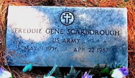 SCARBOROUGH  (VETERAN), FREDDIE GENE - Carroll County, Arkansas | FREDDIE GENE SCARBOROUGH  (VETERAN) - Arkansas Gravestone Photos