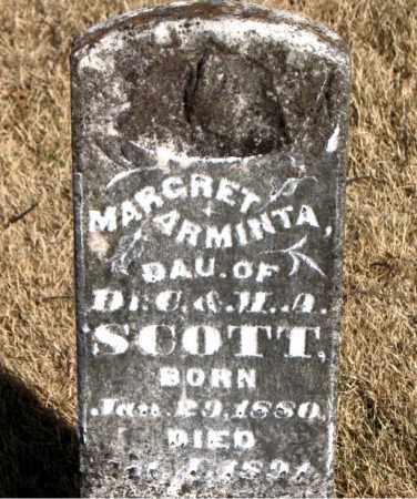 SCOTT, MARGRET ARMINTA - Carroll County, Arkansas | MARGRET ARMINTA SCOTT - Arkansas Gravestone Photos