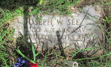 SEE (VETERAN CSA), JOSEPH W - Carroll County, Arkansas | JOSEPH W SEE (VETERAN CSA) - Arkansas Gravestone Photos