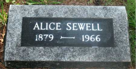 SEWELL, ALICE - Carroll County, Arkansas | ALICE SEWELL - Arkansas Gravestone Photos