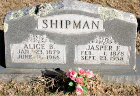SHIPMAN, ALICE  B. - Carroll County, Arkansas | ALICE  B. SHIPMAN - Arkansas Gravestone Photos