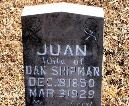 SHIPMAN, JUAN - Carroll County, Arkansas | JUAN SHIPMAN - Arkansas Gravestone Photos