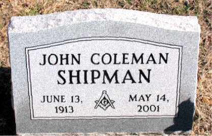 SHIPMAN, JOHN COLEMAN - Carroll County, Arkansas | JOHN COLEMAN SHIPMAN - Arkansas Gravestone Photos