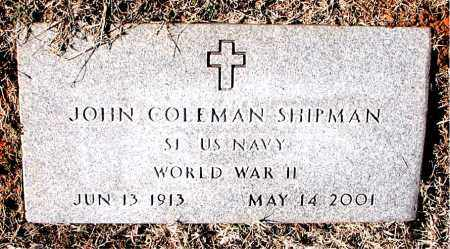 SHIPMAN  (VETERAN WWII), JOHN COLEMAN - Carroll County, Arkansas | JOHN COLEMAN SHIPMAN  (VETERAN WWII) - Arkansas Gravestone Photos