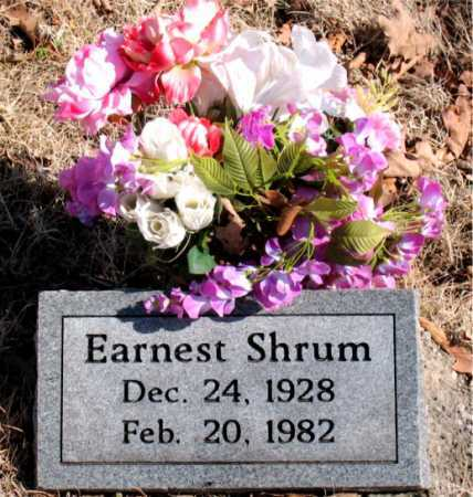 SHRUM, EARNEST - Carroll County, Arkansas | EARNEST SHRUM - Arkansas Gravestone Photos