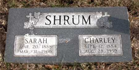 SHRUM, CHARLEY - Carroll County, Arkansas | CHARLEY SHRUM - Arkansas Gravestone Photos