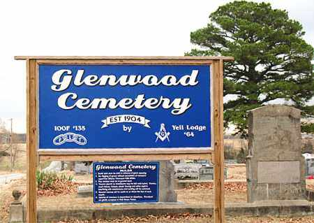 *GLENWWOOD CEMETERY SIGN,  - Carroll County, Arkansas |  *GLENWWOOD CEMETERY SIGN - Arkansas Gravestone Photos