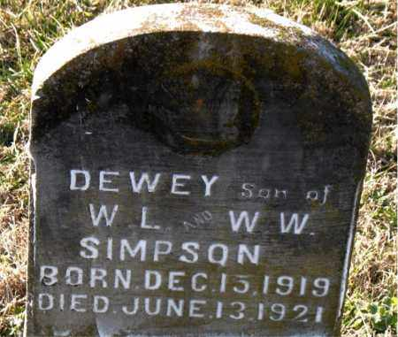 SIMPSON, DEWEY - Carroll County, Arkansas | DEWEY SIMPSON - Arkansas Gravestone Photos