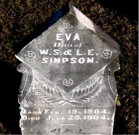 SIMPSON, EVA - Carroll County, Arkansas | EVA SIMPSON - Arkansas Gravestone Photos