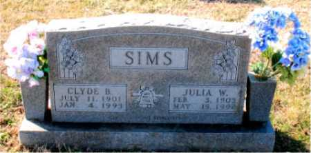SIMS, CLYDE B. - Carroll County, Arkansas | CLYDE B. SIMS - Arkansas Gravestone Photos