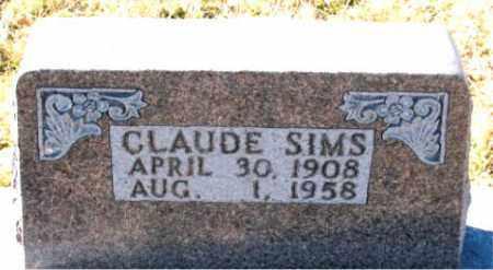 SIMS, CLAUDE - Carroll County, Arkansas | CLAUDE SIMS - Arkansas Gravestone Photos