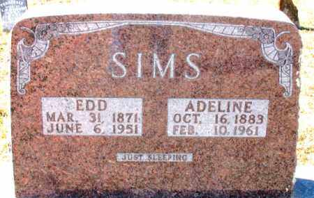 SIMS, ADELINE - Carroll County, Arkansas | ADELINE SIMS - Arkansas Gravestone Photos