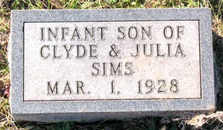 SIMS, INFANT SON - Carroll County, Arkansas | INFANT SON SIMS - Arkansas Gravestone Photos