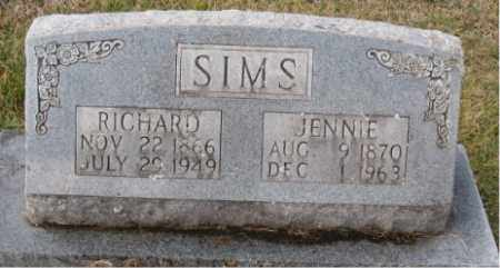 SIMS, JENNIE - Carroll County, Arkansas | JENNIE SIMS - Arkansas Gravestone Photos