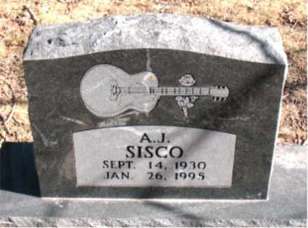 SISCO, A.J. - Carroll County, Arkansas | A.J. SISCO - Arkansas Gravestone Photos