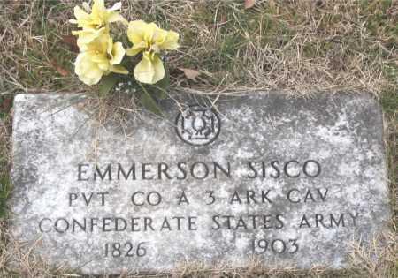 SISCO (VETERAN CSA), EMMERSON - Carroll County, Arkansas | EMMERSON SISCO (VETERAN CSA) - Arkansas Gravestone Photos