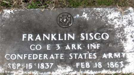 SISCO (VETERAN CSA), FRANKLIN - Carroll County, Arkansas | FRANKLIN SISCO (VETERAN CSA) - Arkansas Gravestone Photos