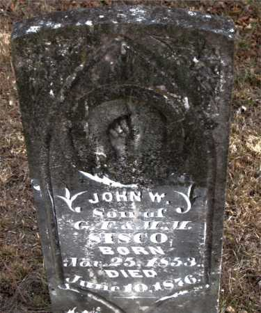 SISCO, JOHN W - Carroll County, Arkansas | JOHN W SISCO - Arkansas Gravestone Photos