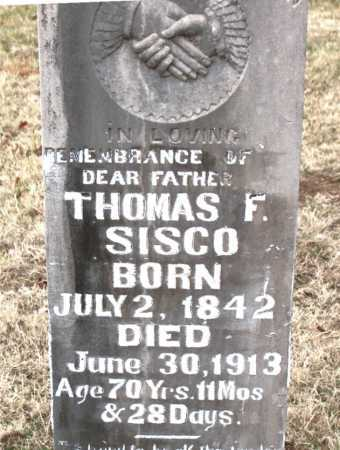 SISCO, THOMAS F - Carroll County, Arkansas | THOMAS F SISCO - Arkansas Gravestone Photos