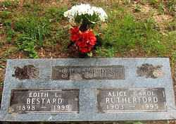 RUTHERFORD BESTARD, EDITH L - Carroll County, Arkansas | EDITH L RUTHERFORD BESTARD - Arkansas Gravestone Photos