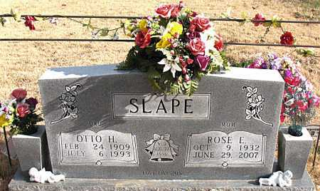 SLAPE, OTTO  H. - Carroll County, Arkansas | OTTO  H. SLAPE - Arkansas Gravestone Photos