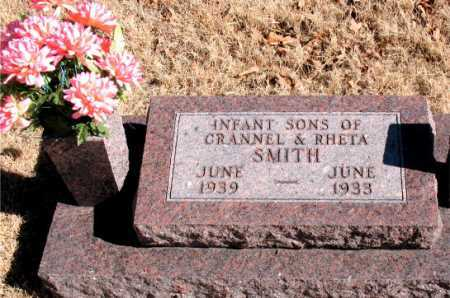 SMITH, INFANT SONS - Carroll County, Arkansas | INFANT SONS SMITH - Arkansas Gravestone Photos