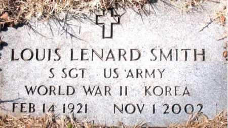 SMITH (VETERAN 2 WARS), LOUIS LENARD - Carroll County, Arkansas | LOUIS LENARD SMITH (VETERAN 2 WARS) - Arkansas Gravestone Photos