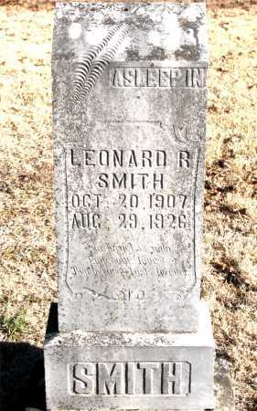 SMITH, LEONARD R. - Carroll County, Arkansas | LEONARD R. SMITH - Arkansas Gravestone Photos