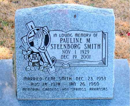 STEENBORG SMITH, PAULINE M - Carroll County, Arkansas | PAULINE M STEENBORG SMITH - Arkansas Gravestone Photos
