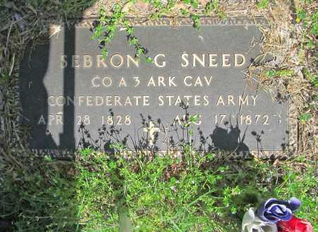 SNEED (VETERAN CSA), SEBRON GRAHAM - Carroll County, Arkansas | SEBRON GRAHAM SNEED (VETERAN CSA) - Arkansas Gravestone Photos