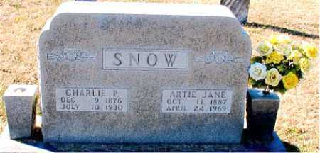 SNOW, CHARLIE P. - Carroll County, Arkansas | CHARLIE P. SNOW - Arkansas Gravestone Photos
