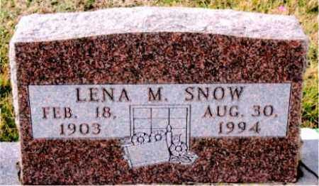 SNOW, LENA  M. - Carroll County, Arkansas | LENA  M. SNOW - Arkansas Gravestone Photos