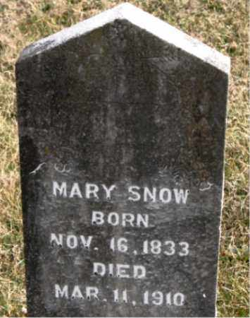 SNOW, MARY - Carroll County, Arkansas | MARY SNOW - Arkansas Gravestone Photos