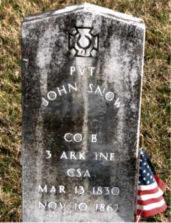 SNOW (VETERAN CSA), JOHN - Carroll County, Arkansas | JOHN SNOW (VETERAN CSA) - Arkansas Gravestone Photos