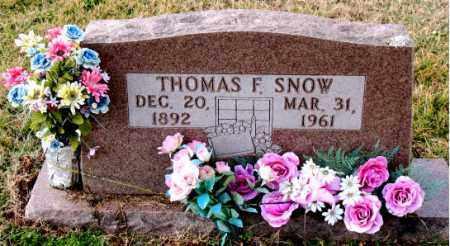 SNOW, THOMAS  F. - Carroll County, Arkansas | THOMAS  F. SNOW - Arkansas Gravestone Photos