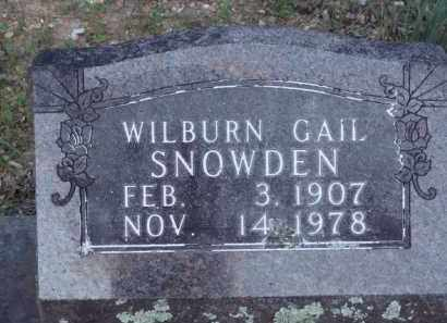 SNOWDEN, WILBURN GAIL - Carroll County, Arkansas | WILBURN GAIL SNOWDEN - Arkansas Gravestone Photos