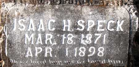 SPECK, ISAAC H. - Carroll County, Arkansas | ISAAC H. SPECK - Arkansas Gravestone Photos