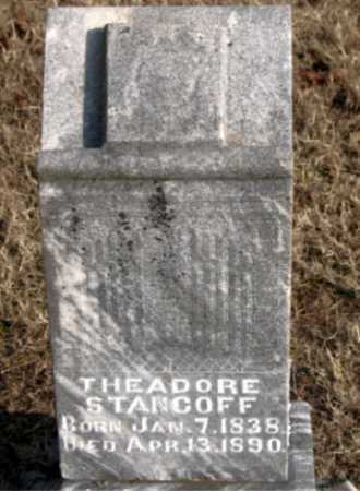 STANCOFF, THEADORE - Carroll County, Arkansas | THEADORE STANCOFF - Arkansas Gravestone Photos
