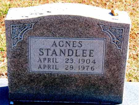 STANDLEE, AGNES - Carroll County, Arkansas | AGNES STANDLEE - Arkansas Gravestone Photos