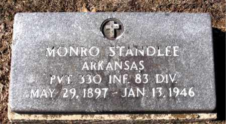 STANDLEE (VETERAN), MONRO - Carroll County, Arkansas | MONRO STANDLEE (VETERAN) - Arkansas Gravestone Photos