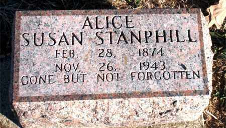 STANPHILL, ALICE SUSAN - Carroll County, Arkansas | ALICE SUSAN STANPHILL - Arkansas Gravestone Photos
